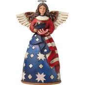 Jim Shore Heartwood Creek Fig Patriotic Angel