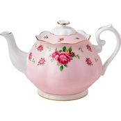 Royal Albert New Country Roses Pink Vintage Teapot