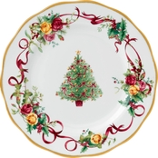 Royal Albert Old Country Roses Christmas Tree Dinner Plate