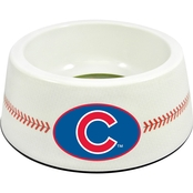GameWear MLB Chicago Cubs Classic Baseball Pet Bowl