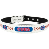 GameWear MLB Chicago Cubs Logo Classic Leather Dog Collar