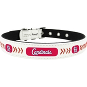 Gamewear MLB St. Louis Cardinals Logo Classic Leather Dog Collar