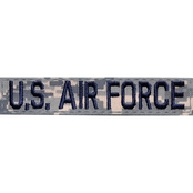 Embroidered Air Force RABU Branch Tape With Velcro