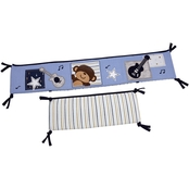 Carter's Infants Monkey Collection Traditional Padded Bumper