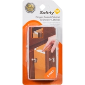 Safety 1st Finger Guard Cabinet & Drawer Latches 8 Pk.