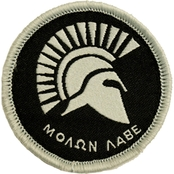 Trooper Clothing Kids Silver and Black Molan Labe Patch