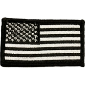 Trooper Clothing Kids Black and White Bold American Flag Patch