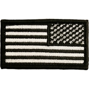 Trooper Clothing Kids Black and White Reversed Bold American Flag Patch