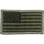 Trooper Clothing Kids OD Green American Flag Patch