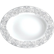 Waterford Lismore Lace Platinum Vegetable Dish