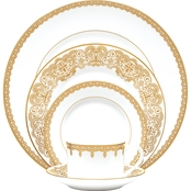 Waterford Lismore Lace Gold 5 pc. Place Setting