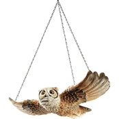 Design Toscano The Garden Owl Hanging Sculpture