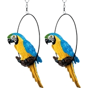 Design Toscano Polly in Paradise Parrot Sculptures, Set of Two