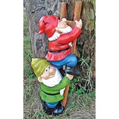 Design Toscano Up the Ladder Climbing Gnome Statue