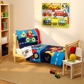 Everything Kids by NoJo Under Construction 4 Pc. Toddler Bedding Set
