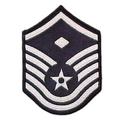 Air Force MSgt With Diamond (1st Sgt) Blue Chevron Small Rank
