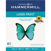 Hammermill Laser Print Office Paper, 24 Lb., 8.5 X 11 In., 500 Sheets