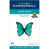 Hammermill Laser Print Office Paper, 24 Lb., 8.5 X 14 In., 500 Sheets