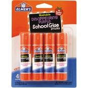 Elmer's Washable Disappearing Purple School Glue Sticks, 4 Pk.