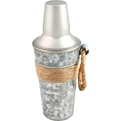 Cambridge Shiloh Galvanized 24 oz. Cocktail Shaker