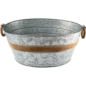 Cambridge Shiloh Galvanized Beverage Tub with Rope Handles