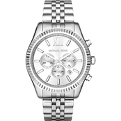 Michael Kors Men's Lexington Silvertone Watch MK8405