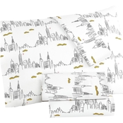 Martha Stewart Whim Collection Taxi Cab 200 Thread Count Cotton Percale Sheet Set