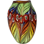 Dale Tiffany Peacock Feather Vase