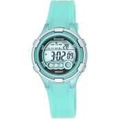 Armitron Women's Sport Digital Light Green Resin Strap Watch 36mm 45/7053LTG