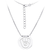 Sterling Silver MLB Milwaukee Brewers Tailored Necklace With 16 In. Chain