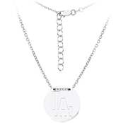 Sterling Silver MLB Los Angeles Dodgers Tailored Necklace With 16 In. Chain