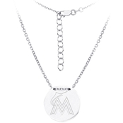 Sterling Silver MLB Miami Marlins Tailored Necklace With 16 In. Chain