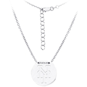 Sterling Silver MLB New York Mets Tailored Necklace With 16 In. Chain