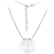 Sterling Silver MLB Texas Rangers Tailored Necklace With 16 In. Chain