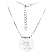 Sterling Silver MLB Colorado Rockies Tailored Necklace With 16 In. Chain