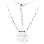 Sterling Silver MLB Washington Nationals Tailored Necklace With 16 In. Chain