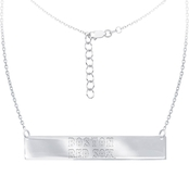 Sterling Silver MLB Boston Red Sox Bar Necklace With 16 In. Chain