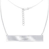 Sterling Silver MLB Minnesota Twins Bar Necklace With 16 In. Chain