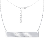 Sterling Silver MLB Seattle Mariners Bar Necklace With 16 In. Chain