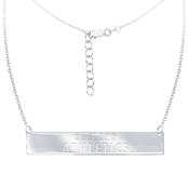 Sterling Silver MLB Oakland Athletics Bar Necklace With 16 In. Chain