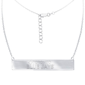 Sterling Silver MLB Toronto Blue Jays Bar Necklace With 16 In. Chain
