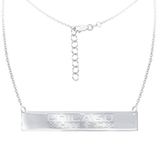 Sterling Silver MLB Chicago White Sox Bar Necklace With 16 In. Chain