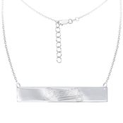 Sterling Silver MLB Atlanta Braves Bar Necklace With 16 In. Chain