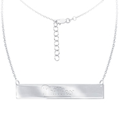 Sterling Silver MLB Philadelphia Phillies Bar Necklace With 16 In. Chain