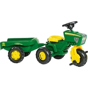 Kettler John Deere 3 Wheel Pedal Tractor with Trailer