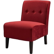 Linon Coco Accent Chair, Red