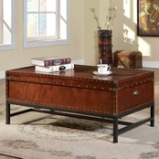 Furniture of America Milbank Storage Cocktail Table