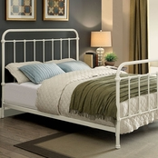 Furniture of America White Metal Queen Bed