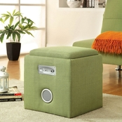 Furniture Of America Bluetooth Ottoman With Speaker