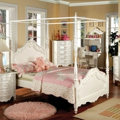 Furniture of America Victoria Twin Canopy Bed